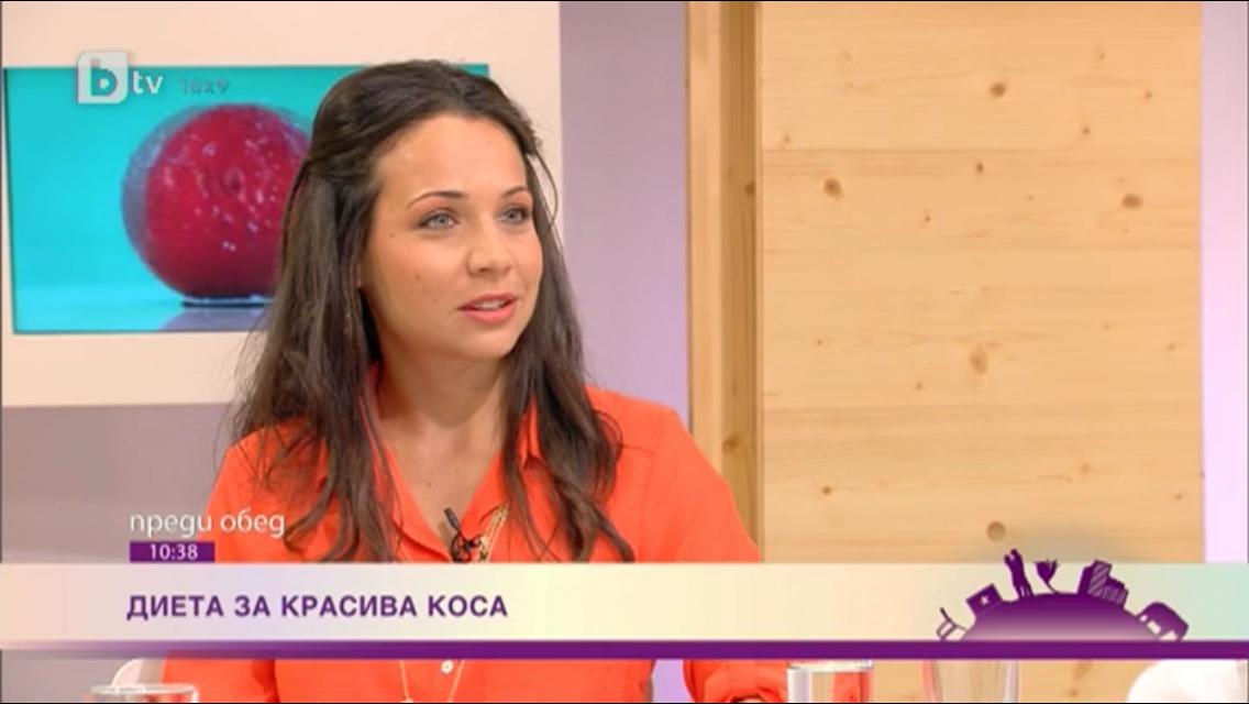 """Храни за растеж на косата – bTV """"Преди обед"""", 16.09.2013"""